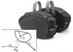 Satteltaschen Givi EA100B + Abstandshalter für Honda CB 1000 R (08 > 16)