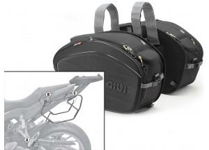 Satteltaschen Givi EA100B + Abstandshalter für Honda CB650 F / CBR650F (14 > 16)
