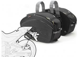 Satteltaschen Givi EA100B + Abstandshalter für Yamaha MT-07 (14 > 16)