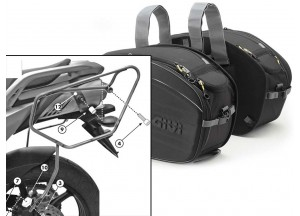 Satteltaschen Givi EA100B + Abstandshalter für Yamaha FZ6 S2 / FZ6 600 Fazer S2