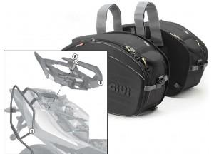 Satteltaschen Givi EA100B + Abstandshalter für Aprilia Shiver 750 / ABS