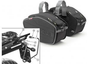 Satteltaschen Givi EA101B + Abstandshalter für Yamaha MT-03 600 (06 > 14)