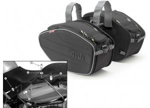 Satteltaschen Givi EA101B + Abstandshalter für Honda CBF 500/600/1000