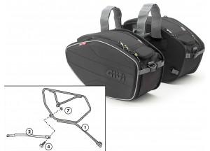 Satteltaschen Givi EA101B + Abstandshalter für Honda CB 1000 R (08 > 16)