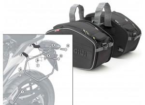 Satteltaschen Givi EA101B + Abstandshalter für Honda NC700S (12 > 13)