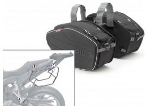 Satteltaschen Givi EA101B + Abstandshalter für Honda CB650 F / CBR650F (14 > 16)