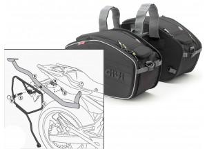 Satteltaschen Givi EA101B + Abstandshalter für Yamaha XJ6 (09 > 12)