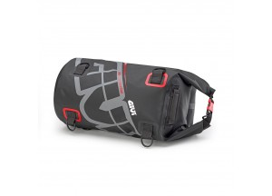 EA114GR - Givi Wasserdichte Rolltasche Sattel oder Gepäckablage 30 Lt Grau Rot