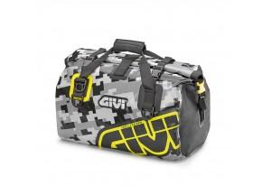 EA115CM - Givi Wasserdichte Rolltasche Sattel oder Gepäckablage 40 Lt Gelb Grau