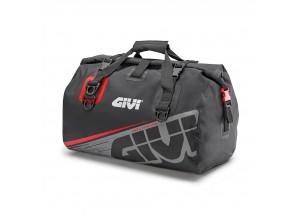 EA115GR - Givi Wasserdichte Rolltasche Sattel oder Gepäckablage 40 Lt Grau Rot