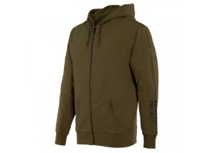 Hoodie Dainese Adventure Full-Zip Military-Olive/Schwarz