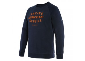 Sweatshirt Dainese PADDOCK Schwarz-Iris/Flame-Orange