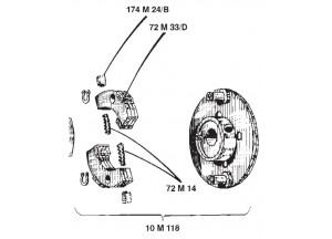 10M118 - Ersatzgruppe Surflex Laufrad-Radialkupplung BENELLI Bobo 50 (68-77)