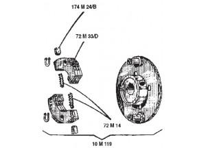 10M119 - Ersatzgruppe Surflex Laufrad-Radialkupplung BENELLI 50