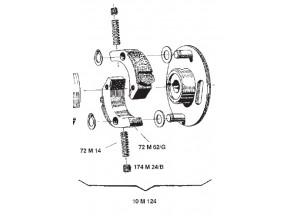 10M124 - Surflex Komplette Änderung des Radialrads Kupplung BENELLI Bobo 50