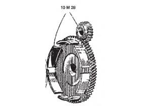 10M28 - Kupplungsteile Surflex Tasse mit Paar BENELLI 50 2t (57-57)