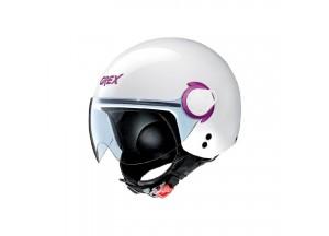 Helm Mini-Jet Grex G3.1E Couple 14 Metal Weiß