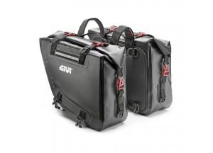 GRT718 - Givi Paar wasserdichte Seitentaschen schwarz gelbem Innenraum 15+15 Lt