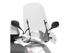 102A - Givi Windschild transparent 66x68cm Honda Dylan 125-150 MBK Flamex125
