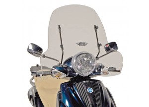 103A - Givi Windschild transparent 43x70cm Piaggio Beverly
