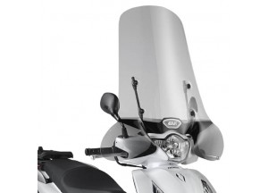 1117A - Givi Windschild transparent 59x71,5cm Honda SH 125i-150i ABS