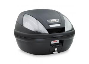 E370NT - Givi Top Case Monolock E370 TECH 39lt Schwarz/Geräucherte Reflektoren