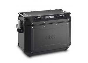OBKN48BR - Givi Seitenkoffer Recht Trekker Outback aus Aluminium schwarz, 48 L.