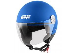 Helm Jet Givi 10.7 Mini-J Solid Colour Metalic Matt Blau
