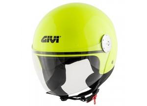 Helm Jet Givi 10.7 Mini-J Solid Colour Neon Gelb