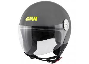 Helm Jet Givi 10.7 Mini-J Solid Colour Glanzend Grau