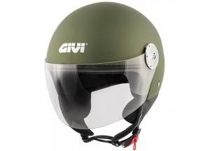 Helm Jet Givi 10.7 Mini-J Solid Colour Metallic Military Matt Green