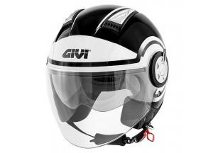 Helm Jet Givi 11.1 Air Jet-R Round Schwarz Weiß