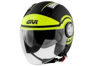 Helm Jet Givi 11.1 Air Jet-R Round Schwarz Gelb