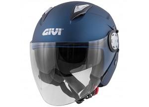 Helm Jet Givi 12.3 Stratos SOLID COLOR Matt Blau