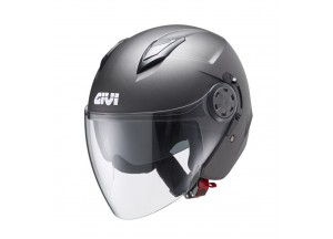 Helm Jet Givi 12.3 Stratos Matt Titanium