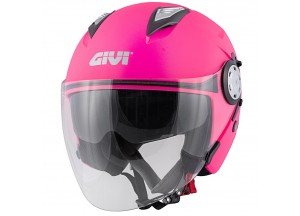 Helm Jet Givi 12.3 Stratos SOLID COLOR LADY Pink