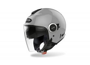Helm Jet Airoh Helios Color Concrete Grau Glänzend