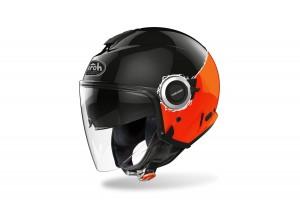 Helm Jet Airoh Helios Fluo Orange Glänzend