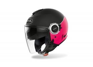 Helm Jet Airoh Helios Fluo Pink Matt