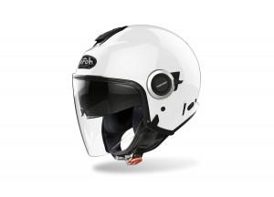 Helm Jet Airoh Helios Color Weiß Glänzend