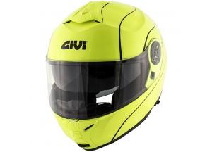 Helm Modular Geöffnet Givi X.21 Challenger Gelb Neon