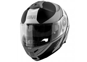 Helm Modular Geöffnet Givi X.21 Challenger Graphic Globe Matt Schwarz Titan