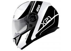 Helm Modular Geöffnet Givi X.21 Challenger Graphic Globe Weiß Schwarz
