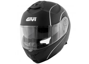 Helm Modular Geöffnet Givi X.21 Challenger Matt Schwarz