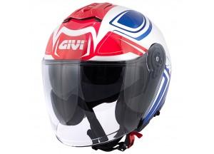 Helm Jet Givi X.22 PLANET HYPER Weiß Blau Rot