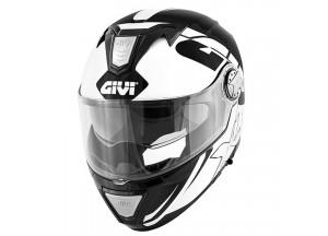 Helm Modular Geöffnet Givi X.23 Sydney Eclipse Schwarz Weiß
