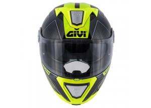 Helm Modular Geöffnet Givi X.23 Sydney Protect Schwarz Titan Gelb