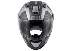 Helm Modular Geöffnet Givi X.23 Sydney Protect Matt Silber Schwarz