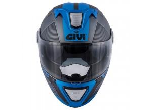 Helm Modular Geöffnet Givi X.23 Sydney Protect Matt Titanium Schwarz Blau