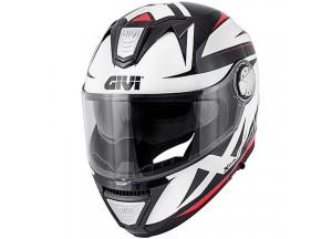 Helm Modular Geöffnet Givi X.23 Sydney Pointed Schwarz Weiß Rot